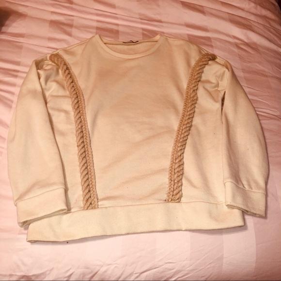 Zara Sweaters - Zara Rope Crewneck